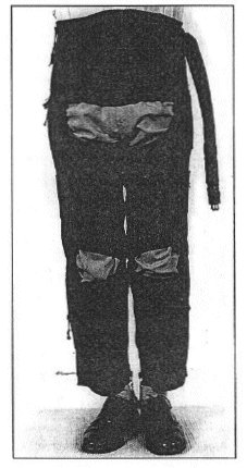 Figure 3. Wearing an inflated anti-G suit.
